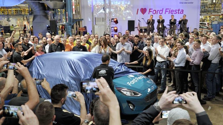 Ford-fabrik klar med første Fiesta