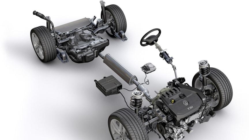 Næste års Golf 8 vil blive udstyret med mild-hybrid-system på 1,0 TSI DSG og 1,5 TSI DSG