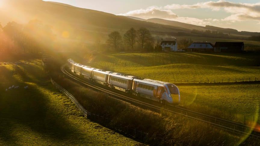 Hitachi's Azuma train at Gleneagles