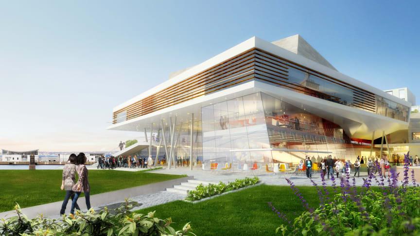 Rendering av Clarion Hotel Sea U, öppnar våren 2020.