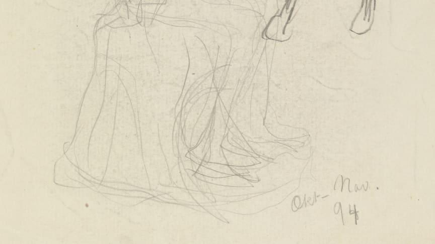 Utstillingen Konstellasjoner av kjærlighet gir et unikt innblikk i Gustav Vigelands kunst på papir. (Foto tilhører Vigeland-museet)