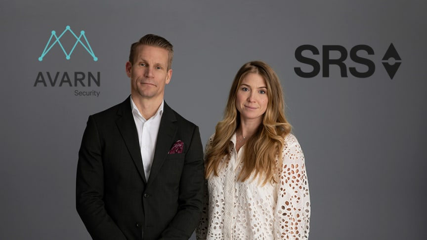 David Larsson, VD Avarn Security och Louise Ringström Grandinson, VD på SRS Security.