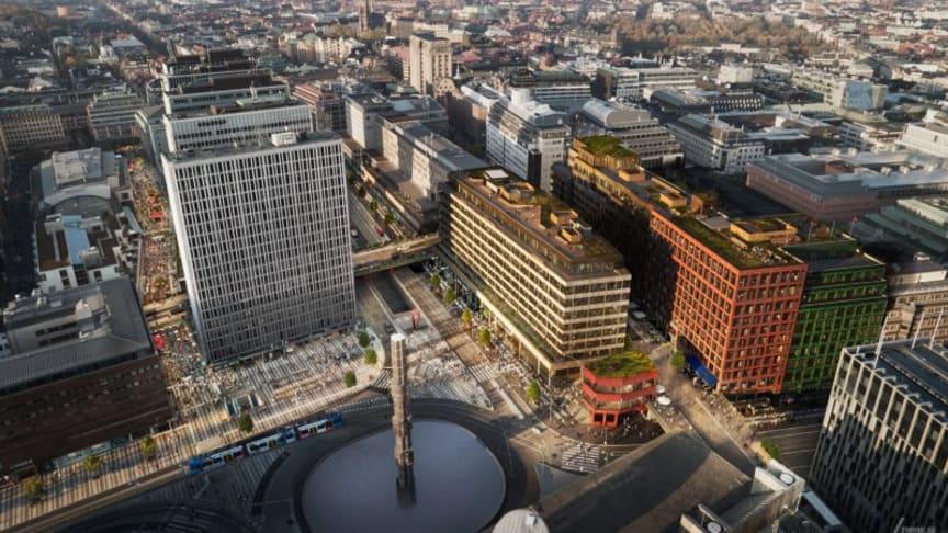 Urbangreens gröna tak på Sergelhuset vinner Green Roof Award