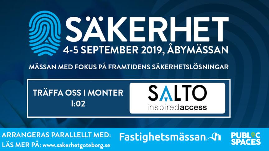 SALTO Systems ställer ut på Säkerhet Väst i Göteborg