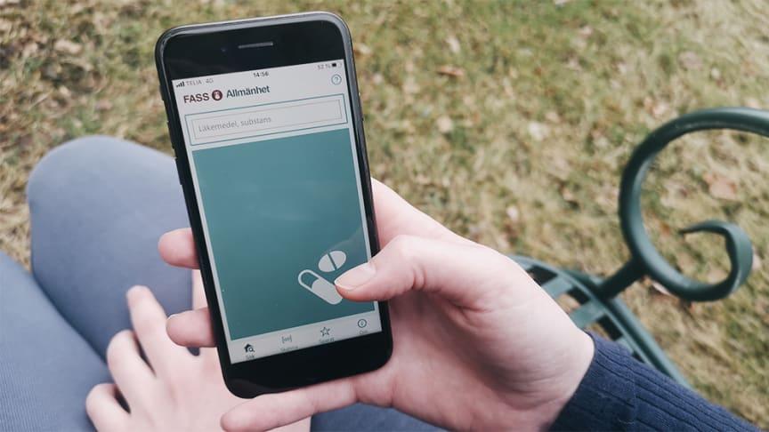 Fass lanserade den 31 mars en ny app med läkemedelsinformation och möjlighet att söka om läkemedlet finns i lager.