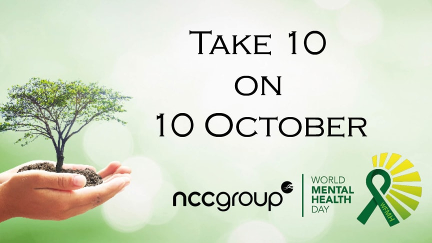 Take 10 on 10 for World Mental Health Day