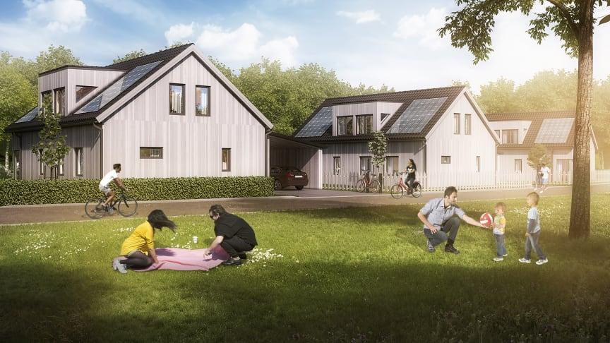 "Riksbyggen bygger energisnåla ""solvillor"" i Gårdsten"