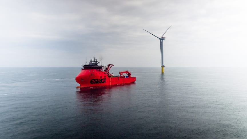 ESVAGT is exploring the possibility of transporting tools from vessel to WTG via drone.