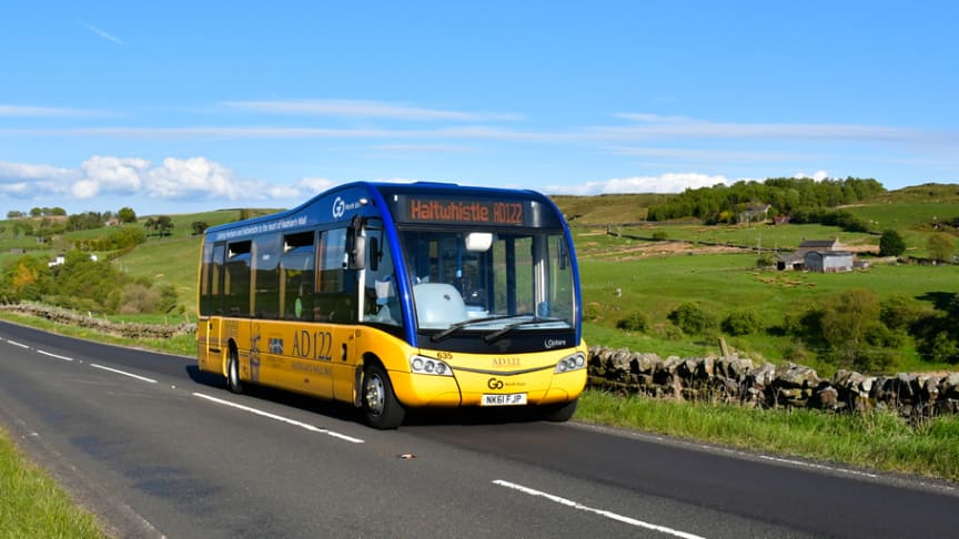 AD122 Hadrian's Wall Country Bus returns from Saturday to help support business and attraction workers