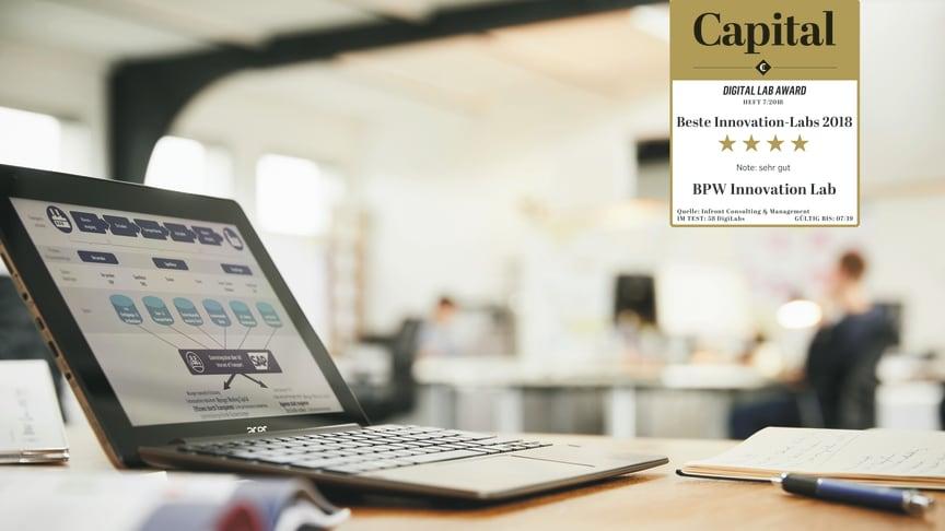 Das BPW Innovation Lab, das Konzepte für den digital vernetzten Transport entwickelt, schnitt beim Digital Lab Award des Magazins Capital auf Anhieb besser ab als viele personal- und kapitalstarke Labore deutscher Großkonzerne.