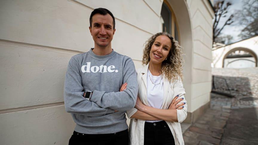 Alek Åström (CTO) och Malin Granlund (CEO), grundare av Done