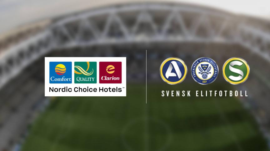 Nordic Choice Hotels ny samarbetspartner till Svensk Elitfotboll på liganivå