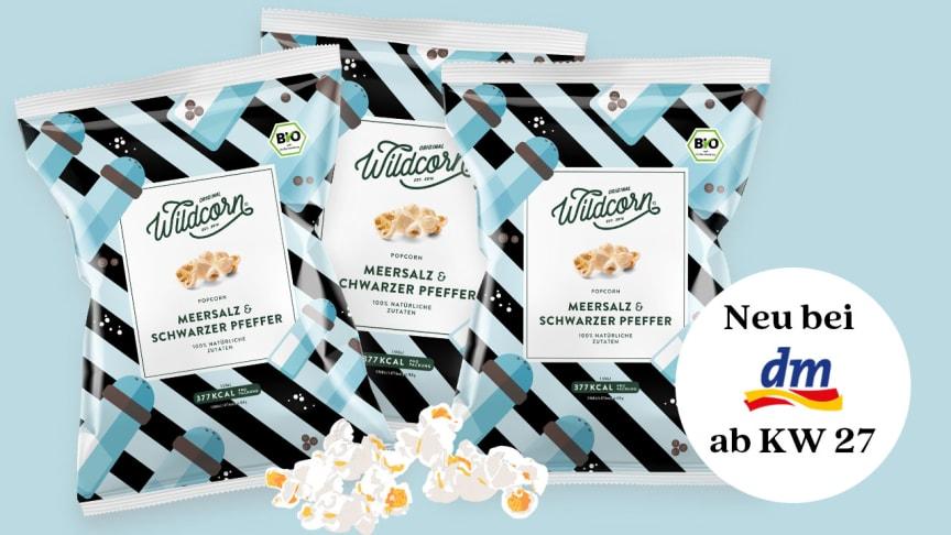 Wildcorn Popcorn Meersalz & Schwarzer Pfeffer ab Juli dauerhaft bei dm.