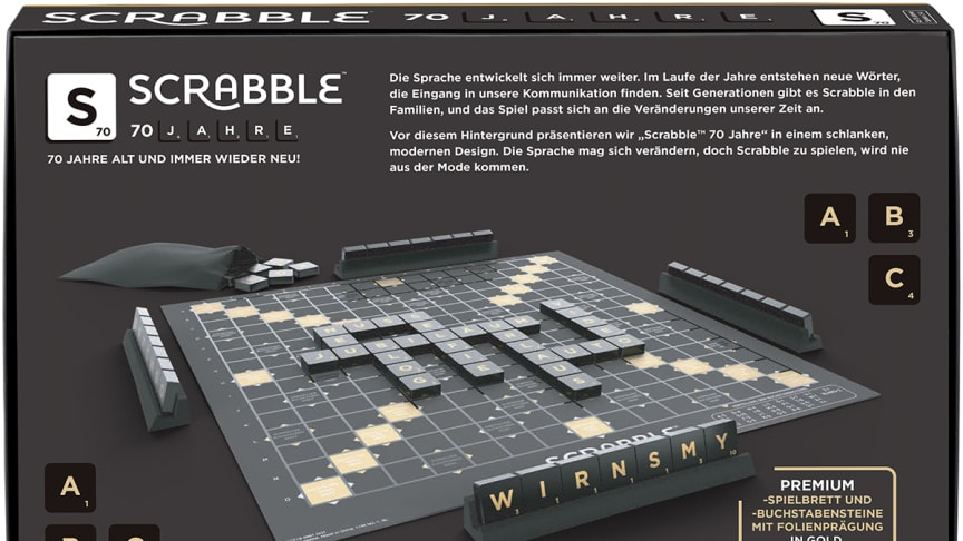 Scrabble 70 Jahre Jubiläumsedition - Back