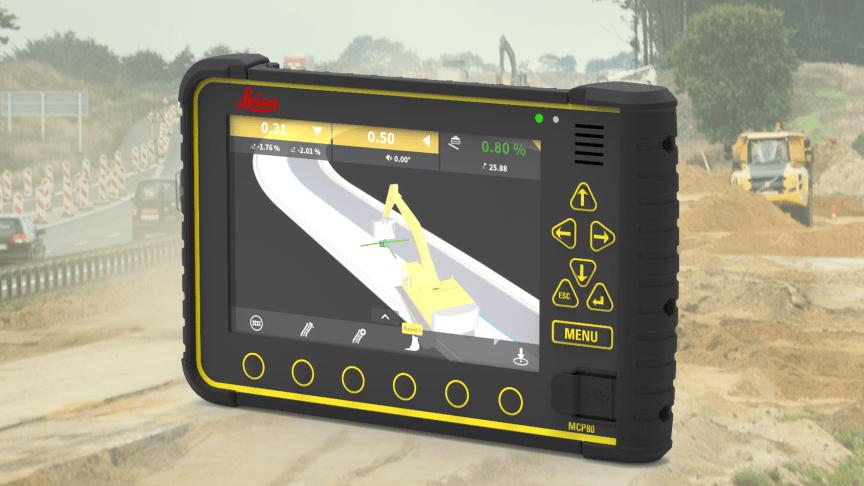 I den nya intuitiva mjukvaruplattformen MC1 används snabbåtkomster och smart navigering för att hålla kvar operatören på körskärmen och säkerställa längre driftstid.