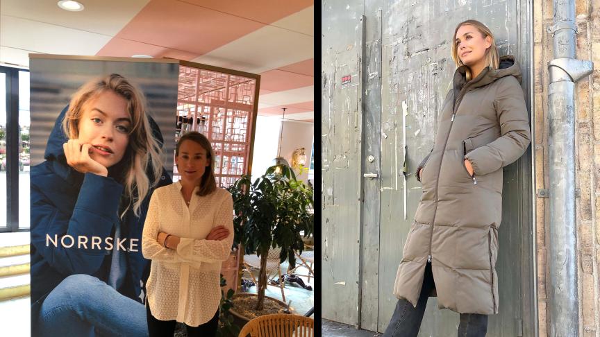 Sara Hällås grundare och ansvarig på Norrsken lanserar höstkollektionen med influencers och liveshopping.