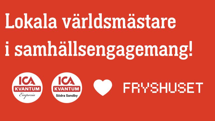 """Projektet """"Lokala världsmästare i samhällsengagemang"""" möjliggörs via ICA Stiftelsen."""