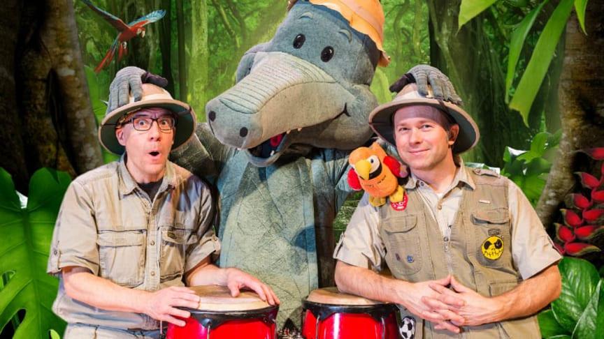 Youtube-favoriten Arne Alligator och Djungeltrumman kommer till Lidköping