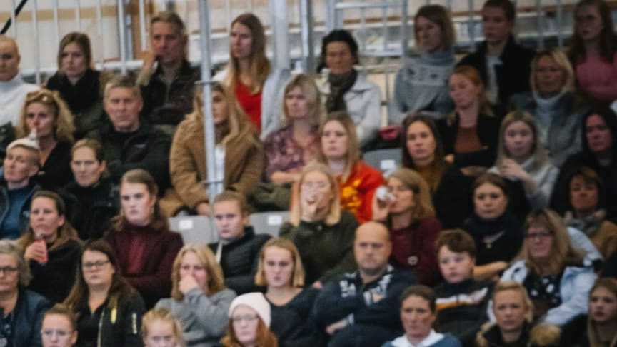Mest publik av alla drog inte helt oväntat kvällens clinic med Peder Fredricson. Fotograf: Ludwig Saari