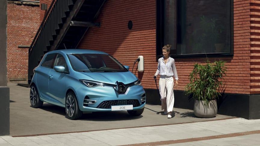 Renault och NewMotion hjälper förare att växla till eldrivet genom att erbjuda lösningar för laddning, hemma eller på väg