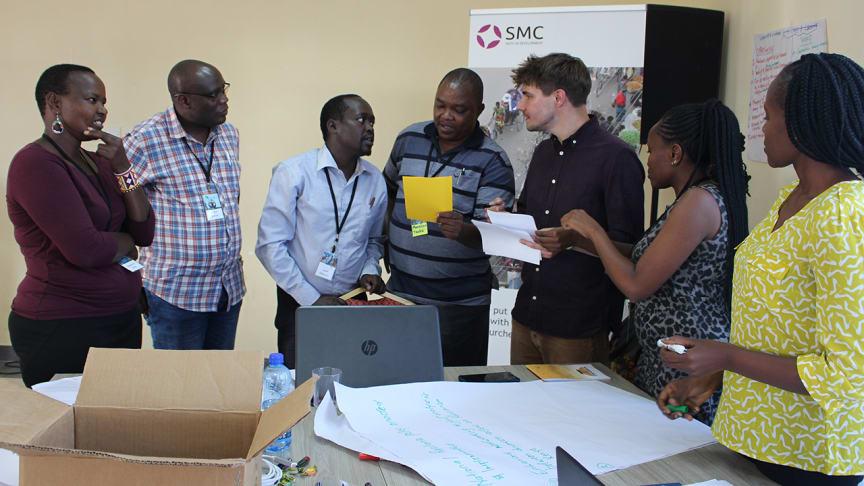 Gruppsamtal vid en workshop om resiliens i Kenya i början av 2020. Foto: Job Mainye