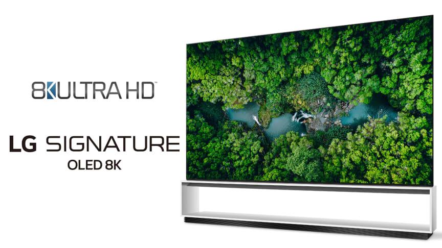Tv från LG först att överskrida den officiella branschdefinitionen för 8K ULTRA HD-TV-apparater