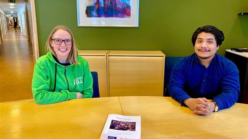 Ingrid Rabbe Larsen, prosjektleder AnsvarsFull, og Tobias Hjertmann, leder i DebutUKA, presenterer AnsvarsFulls rapport for DebutUKA 2019. Foto: Stine Lillebrygfjeld, Samskipnaden