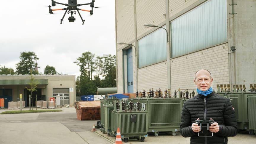 Digitalisierung im Stromnetz: Drohne ersetzt Helikopter
