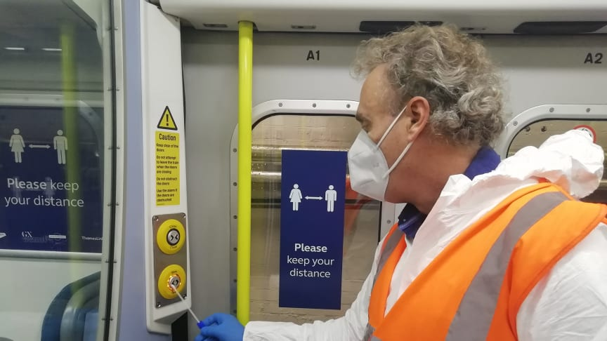 Swab samples taken from Southern, Thameslink and Great Northern trains have tested negative for Covid-19 in a laboratory