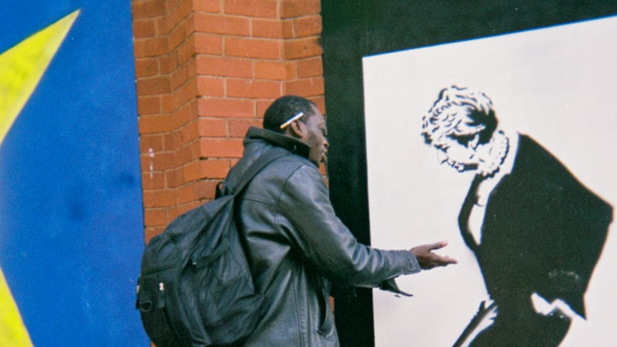 """WHY? by Deep. Deep was walking along Great Portland Street when he came across a mural by street artist Loretto. """"I just saw that and I thought Yeah, this would be a good picture to just question Theresa May."""""""