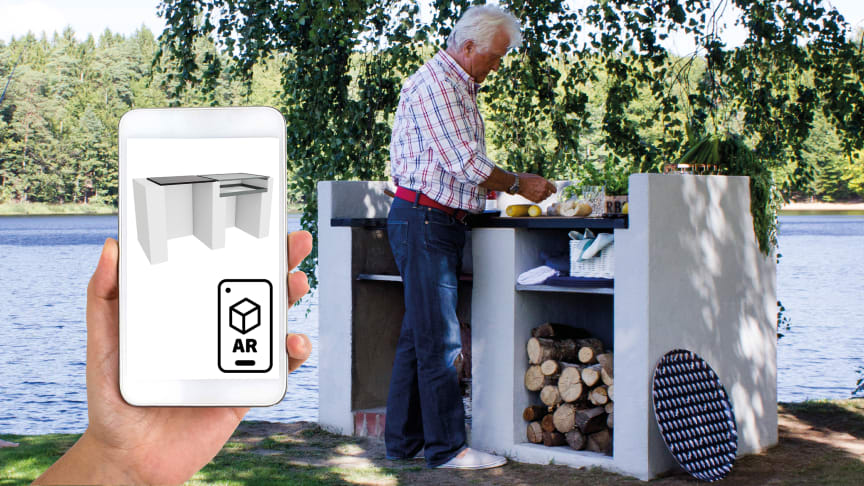 Murad och putsad grill nu även tillgänglig som AR-objekt
