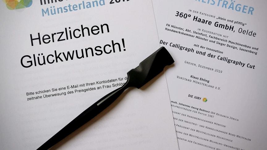 Innovationspreis Münsterland für Calligraph und Calligraphy Cut