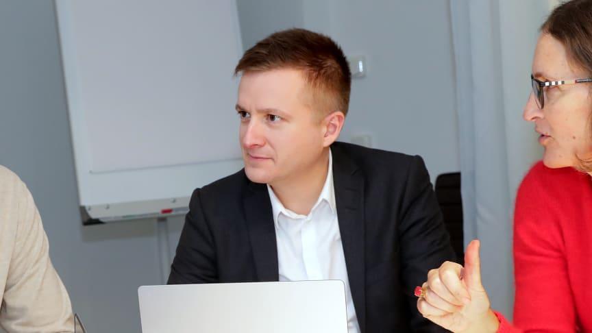 Pontus Haraldsson, CFO, LRF Media och Ann Henriksson, VD, LRF Media
