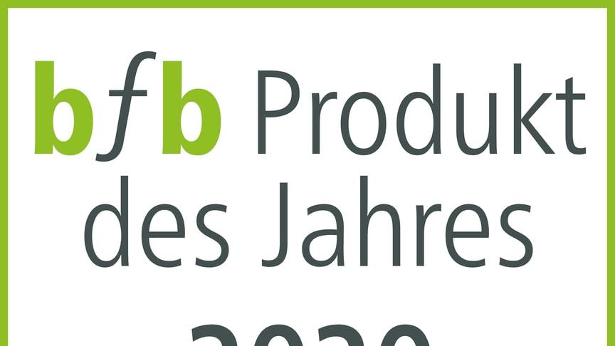 bfb Produkt des Jahres 2020 –  innovativ, komfortabel,  barrierefrei