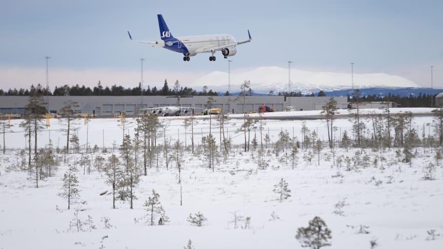 SAS flyger från Köpenhamn och Aalborg med start 26 dec 2021