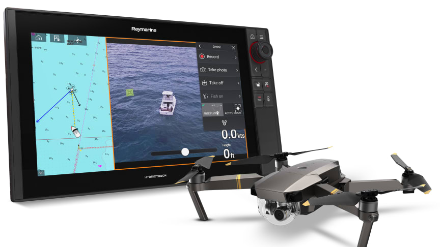 The new Axiom UAV app brings together the power and simplicity of Raymarine navigation with advanced unmanned aerial imaging.