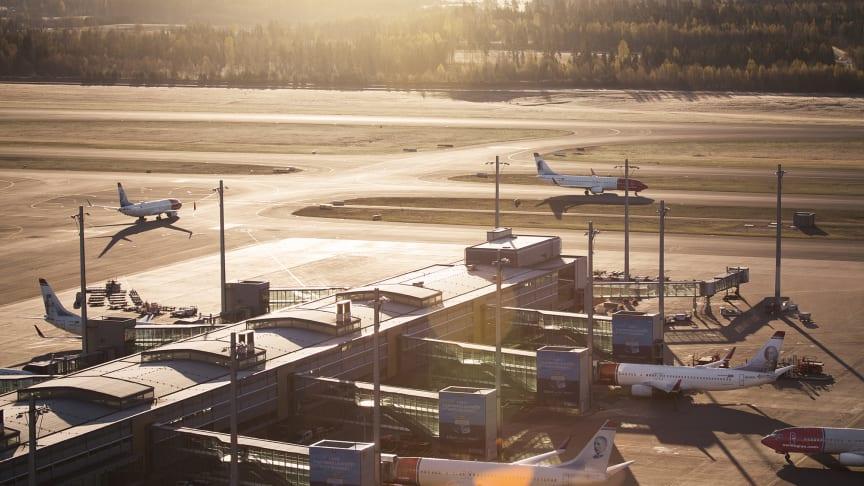 Økt etterspørsel etter flyreiser første halvår. Foto: Norwegian.