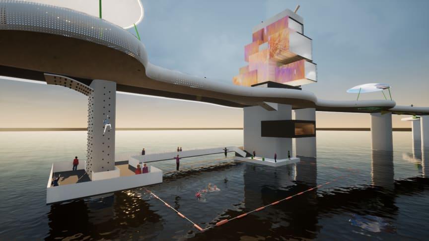 Tyréns tar fram koncept för framtidens bro – en mötesplats att uppleva