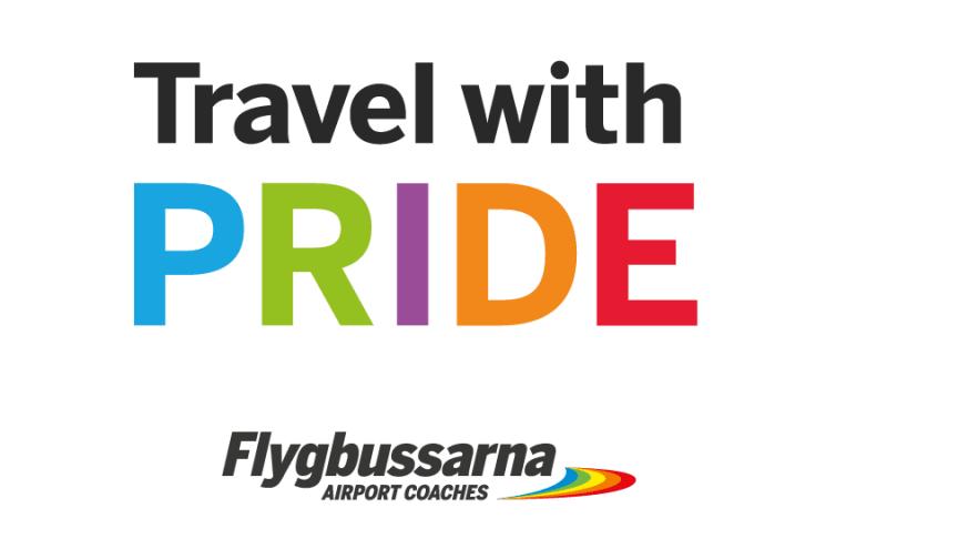 Flygbussarna och Flygbussarna Door to Gate stolta deltagare i Prideparaden