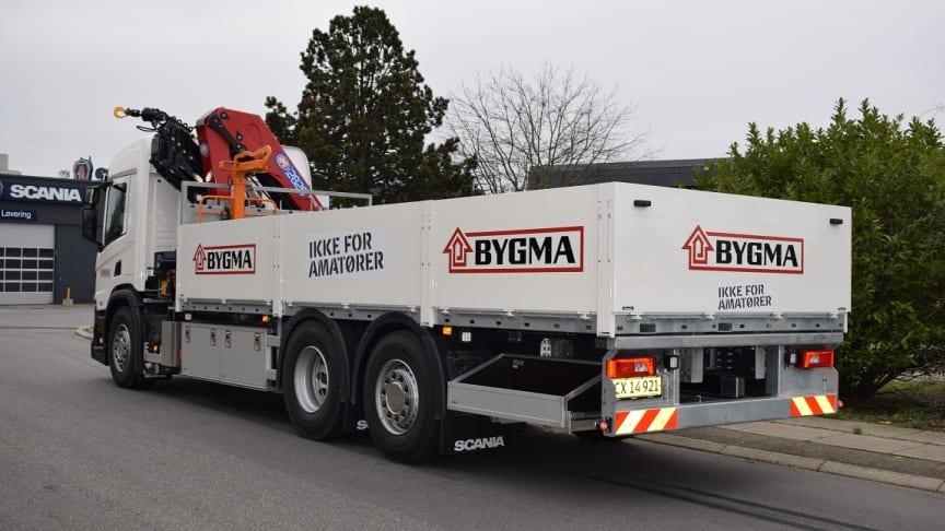 Bygmas nye batterielektriske lastbil kommer til at køre ud fra Bygma København, der åbner i starten af 2022