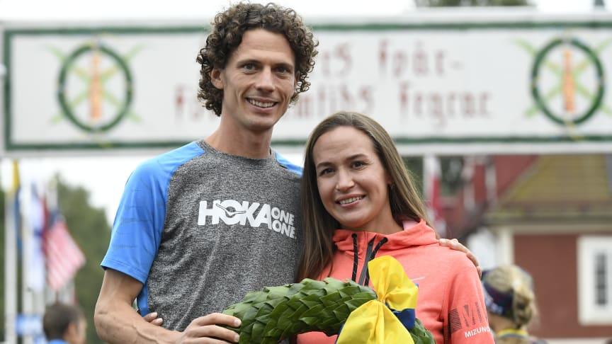 Jim Walmsley and Alexandra Morozova won Ultravasan 90 2019