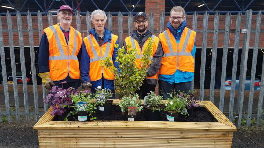 Thameslink staff and volunteers from the St Albans South Signal Box Preservation Trust have been planting up bee-friendly flowers at St Albans station