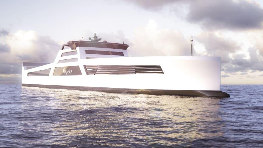Sjøsetter hydrogensatsing med hydrogenfartøy i fast rute