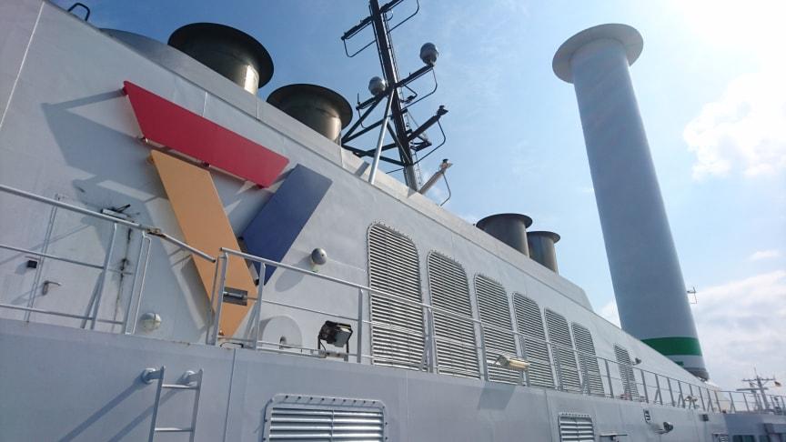 Scandlines bereitet nächstes Fährschiff für ein Norsepower Rotorsegel vor