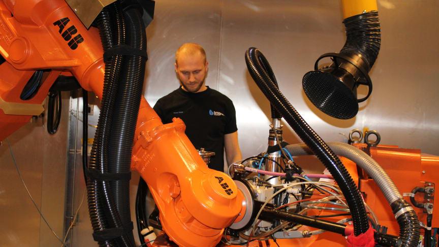 Tomas Sköld, lasersvetstekniker på Brogren Industries.