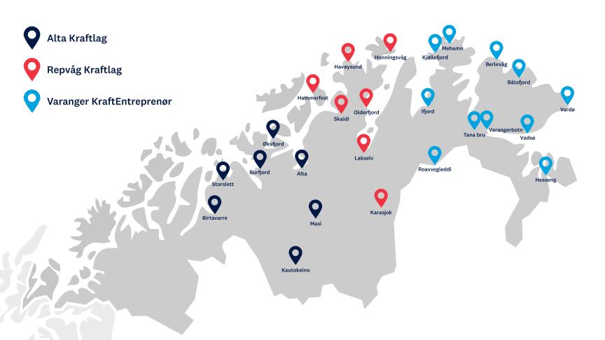 Disse 25 ladestedene skal etableres med Enova-støtte i Troms og Finnmark.