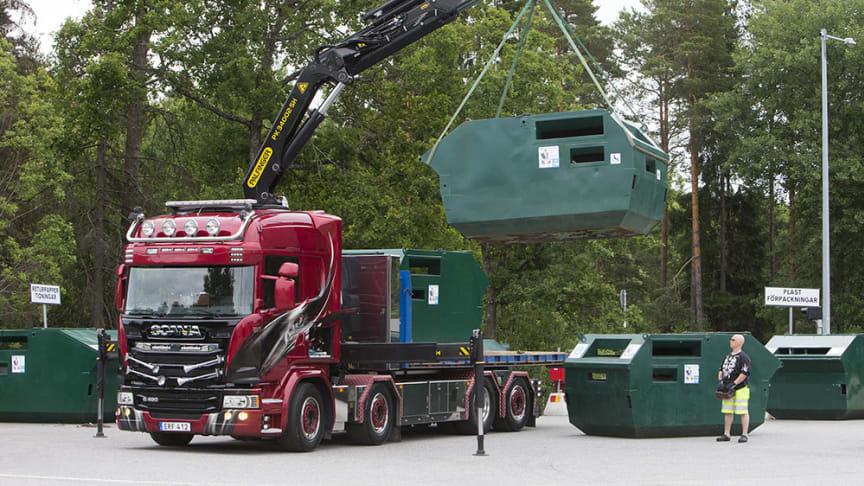 Återvinningsstation tas bort i Huddinge