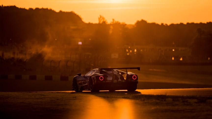 Fyra Ford GT förbereder sig för succé vid Le Mans 24 timmar.