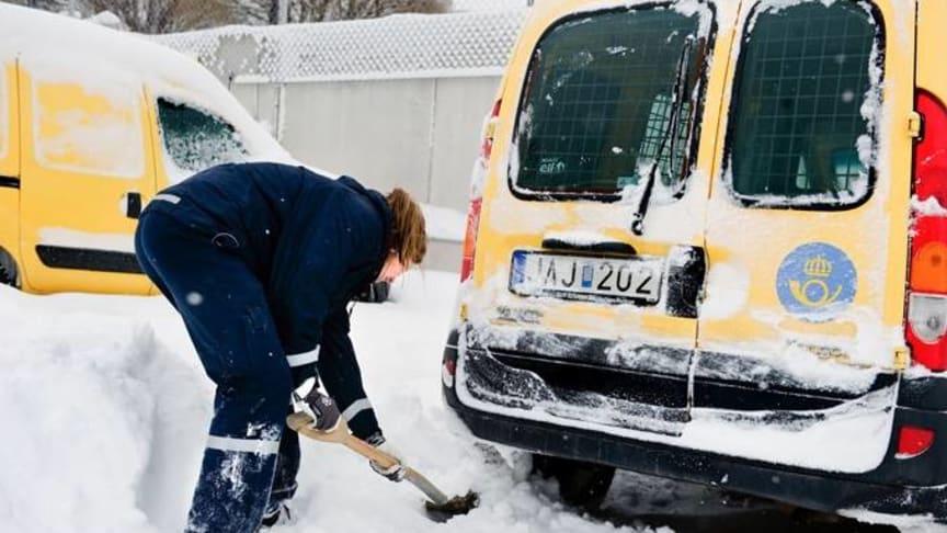 Väderproblem ger störningar i postdistribution