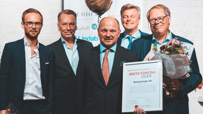 Beslag Design utsedd till årets företag i Båstad kommun på Näringslivsfesten